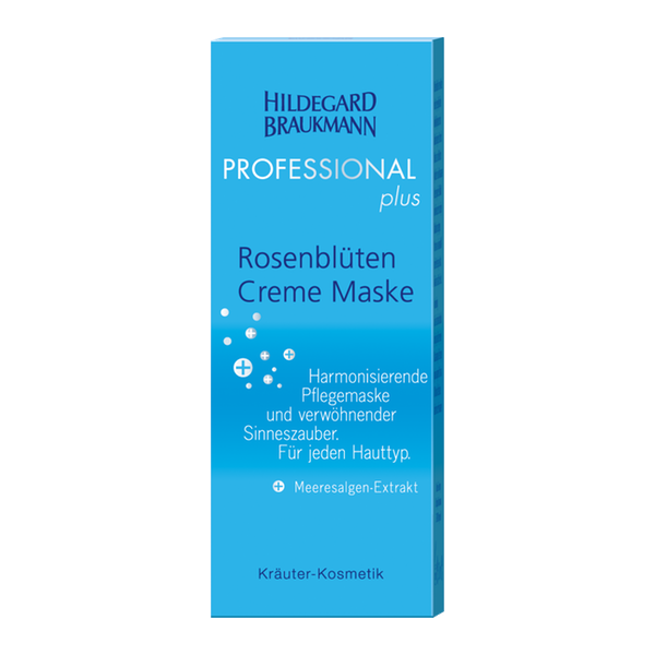 Hildegard Braukmann Professional Plus Rosenblueten Creme Maske Karton